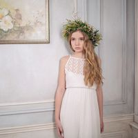 Венок из живых цветов для девичника или свадебного образа в стиле рустик, русский стиль, природный, подойдет для тематических девичников и свадеб