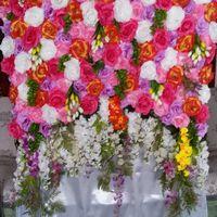 Аренда фотозоны из цветов