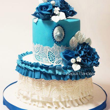 Голубой свадебный торт, цена за 1 кг