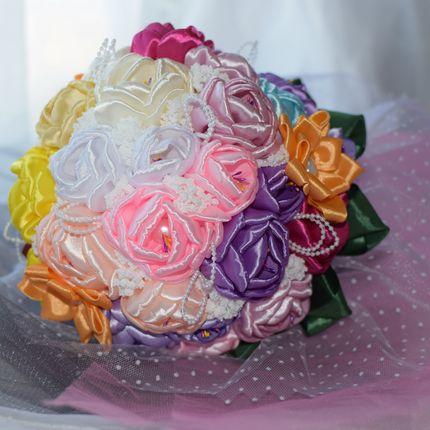 Свадебные букеты-дублеры из лент