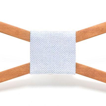 Деревянная бабочка треугольная светлая полая с голубой серединой