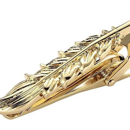 Зажим для галстука золотое перо