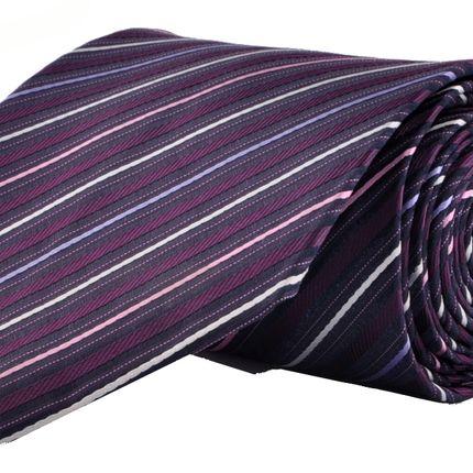 Галстук классический фиолетовый в полоску