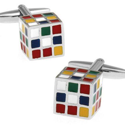 Запонки кубик-рубик