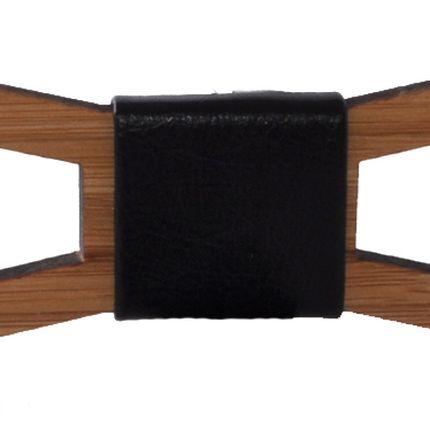 Деревянная галстук-бабочка вытянутая полая