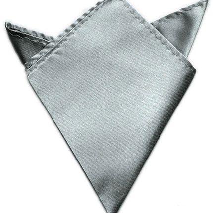 Нагрудный платок атласный стальной серый