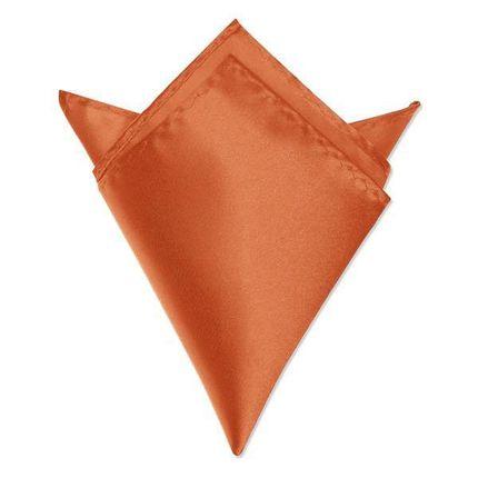 Нагрудный платок атласный оранжевый