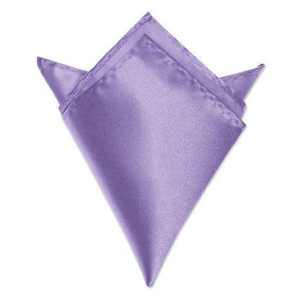 Нагрудный платок атласный сиреневый