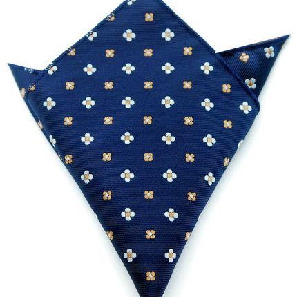 Нагрудный платок темно-синий в цветочек