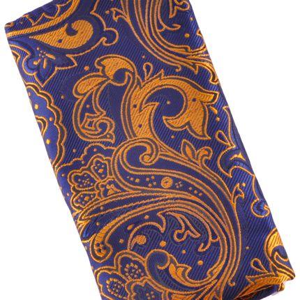Нагрудный платок темно-синий пейсли