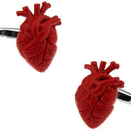 Запонки сердце