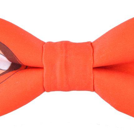 Галстук бабочка оранжевая с Кенни