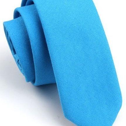Галстук матовый однотонный синий
