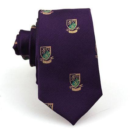 Галстук фиолетовый с гербами