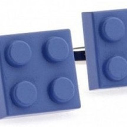 Запонки конструктор лего синие