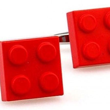 Запонки конструктор красные