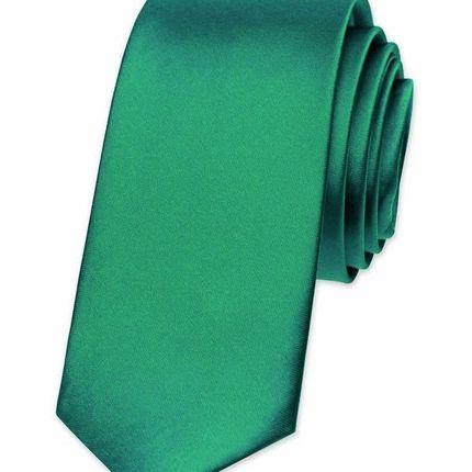 Галстук атласный зеленый