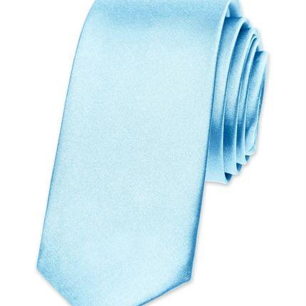 Галстук атласный бледно-синий