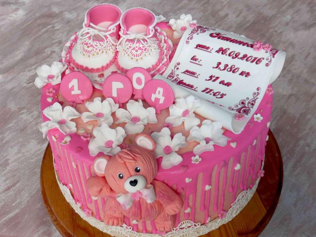 Торт для девочки на 1 год своими руками (бисквитный торт со) 13