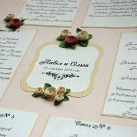 Свадебный комплект состоит из книги пожеланий в мягкой тканевой обложке, папки для свидетельства также в тканевой обложке, плана рассадки гостей и номеров столов. По желанию в таком же стиле могут быть выполнены свадебные приглашения,бонбоньерки. цветов