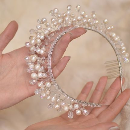 Корона, диадема из речного жемчуга ′Грейс′