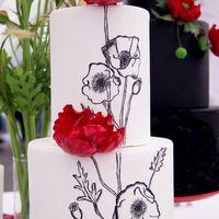 Свадебный торт покрытый мастикой
