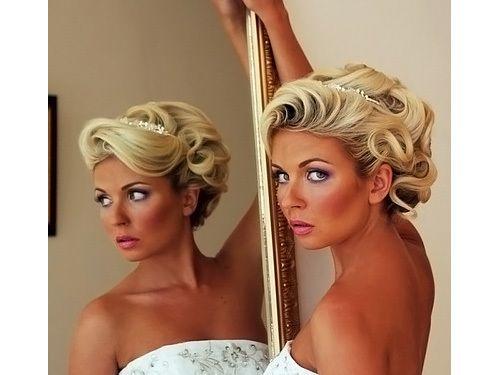 Свадебные прически короткие волосы