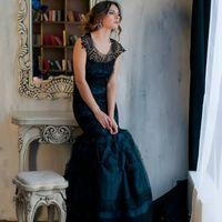 """Черно-бирюзовое платье """"Рыбка"""". Размер 40-48, стрейч Стоимость 1200 руб в день. 350 руб в час. (минимум 2 часа)"""