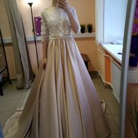 Свадебное платье: Амина Ткань:  атлас, евросетка расшитая Цвет: пудра/молоко Цена: 19500 Это платье на сайте: