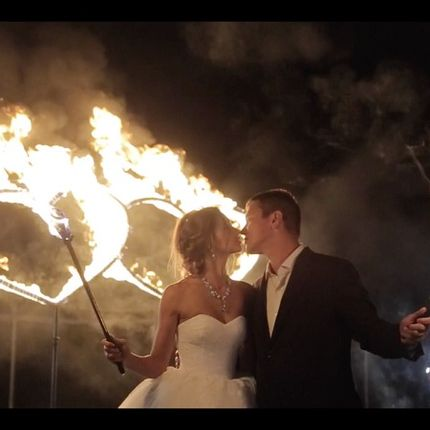 """""""Сердца, 2 фонтана, 20 залпов"""" - огненно пиротехническое шоу"""