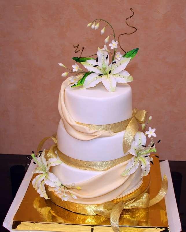 Фото 14338908 в коллекции Свадебные торты - Авторские торты от Анны Мочаловой