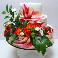 торт с живыми цветами и ягодами 1500р/кг