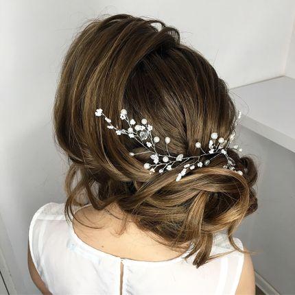 Прическа невесты (волосы ниже плеч)