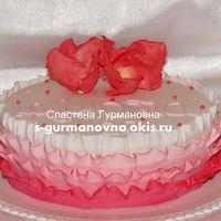 Розовые рюши, 2,4кг, внутри фруктово-ягодный