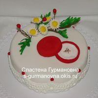 Торт с кольцом, 2,1кг, внутри чизкейк рафаэлло