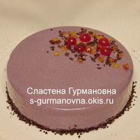 Торт-суфле в шоколадной зеркальной глазури