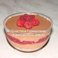 """""""Хлоя"""" - мусс из сливок и темного шоколада, ягодное конфи (малина, вишня и т.п. на выбор)"""