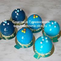Муссовые пирожные в шоколадной глазури