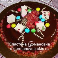 Мини-тортик в шоколадной глазури
