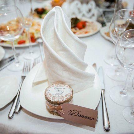 Свадебные бонбоньерки с мёдом, цена за 1 шт