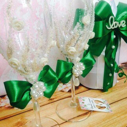 """Свадебный набор """"Сочная зелень"""""""