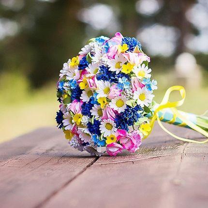 """Букет невесты из полимерной глины """"Полевые цветы"""""""