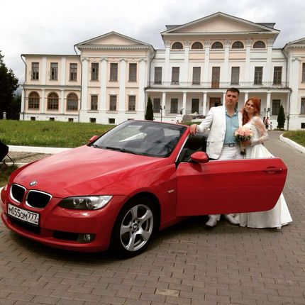 Аренда кабриолета BMW 3-Series красный, цена за 1 час