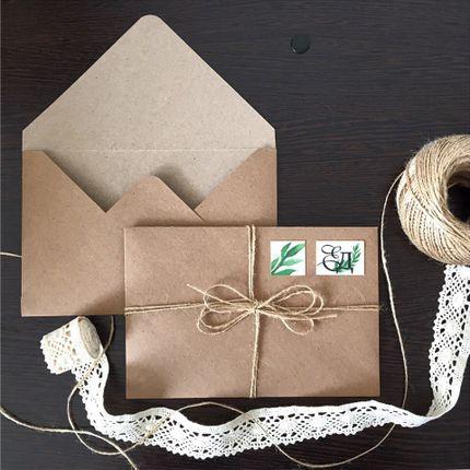 Крафт конверт, цена за 1 шт