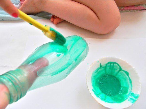 Бутылки-вазы из матового стекла5: МК