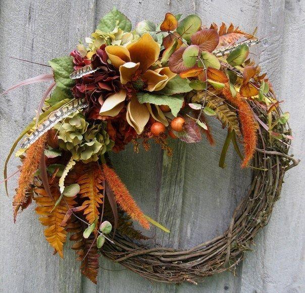 Оформление для фотосессии свадьбы в стиле рустик с использованием декоративного венка из лозы, украшенного листьями папоротника, - фото 1249115 Невеста01