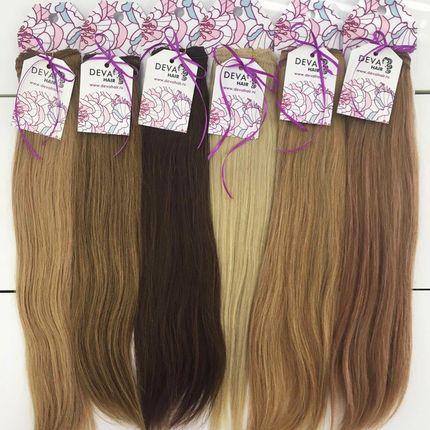 Натуральные волосы на заколках, длина до 70 см