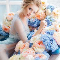 Будуарная съемка  Свадьба в голубом