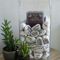 В моем варианте вместо свечи будет мой искусственный свадебный букет)