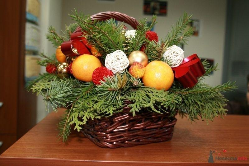 Новогодняя композиция с мандаринами  - фото 70975 Вашкетова Юлия - организатор свадеб, флорист.